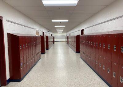 Beville Sixth Grade Corridor