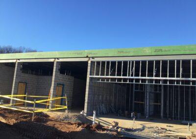 PWC Animal Shelter CMU wall and metal framing